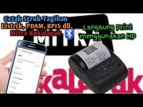 Cara Cetak Struk Listrik, PDAM Mitra Bukalapak Melalui hp | Printer Bluetooth