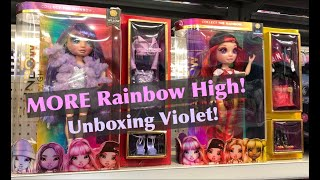 NEW 2020 Rainbow High Fashion Dolls Violet Willow MGA Purple Rainbow Surprise Full Unboxing & Review
