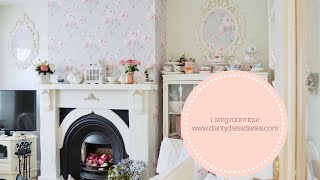Living Room Tour, Shabby Chic And Cottage Style.