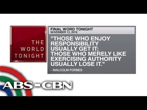 [ABS-CBN]  Final Word – November 13, 2019 | ANC