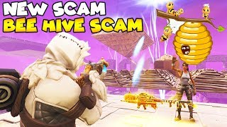 NEW Bee Hive SCAM vs Dumbest Scammer! 😱 (Scammer Gets Scammed) Fortnite Save The World