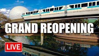 🔴 LIVE: EPCOT Grand Reopening   Walt Disney World Live Stream