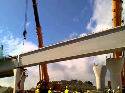 Grúas Rigar: Elevación viga 120 toneladas.