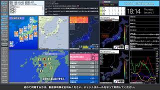 【熊本県熊本地方】 2019年01月03日 18時10分(最大震度6弱)