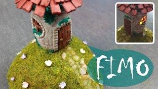Leuchtendes Haus für Fee / Hexe ~ Fimo / Polymer clay / Tutorial