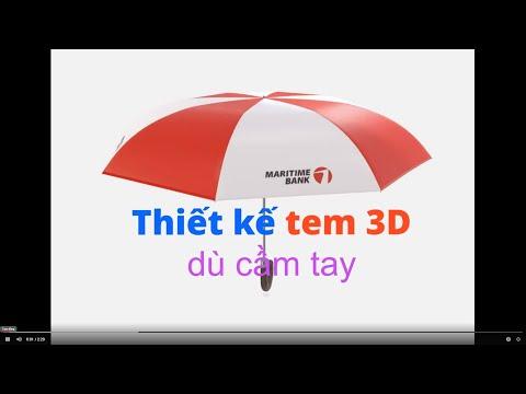 Thiết kế dù cầm tay 3D