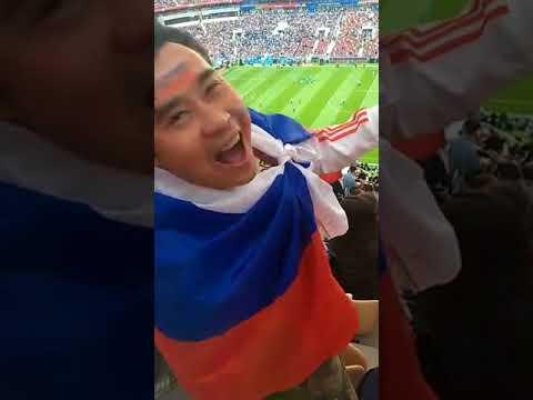 Abertura da Copa da Russia 2018 com Mãe da Fome o enviado do Jornal Agora é Sério na Copa da Russia 2018