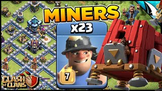 Siege Barracks is Amazing with Miners!! Hitting in Legends at Town Hall 13 | Clash of Clans
