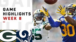 Packers vs. Rams Week 8 Highlights | NFL 2018