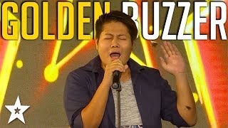 Singer Gets GOLDEN BUZZER Before Song Ended! | Myanmar