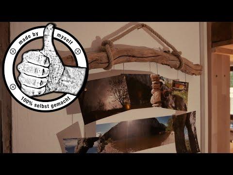 Bilderrahmen aus Treibholz selber machen, selber bauen DIY Deko Tutorial Anleitung