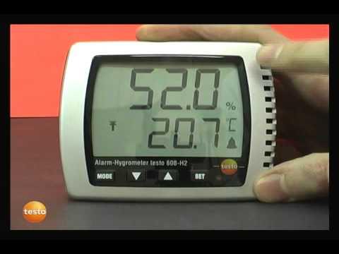 Termohigrómetros testo 608 y 623. Termohigrobarómetro testo 622.