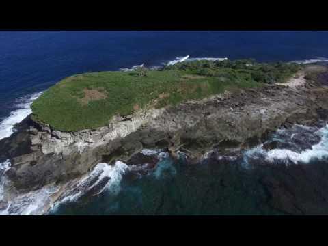 Drone footage of Mudjimba Island