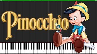 When You Wish Upon A Star - Pinocchio [Piano Tutorial] (Synthesia) // Popular Piano Improv