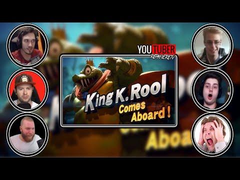 DEUTSCHE YOUTUBER reagieren auf KING K ROOL für SMASH BROS ULTIMATE (видео)