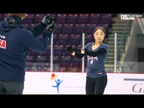 Mirai nagasu training for Olympics 2018