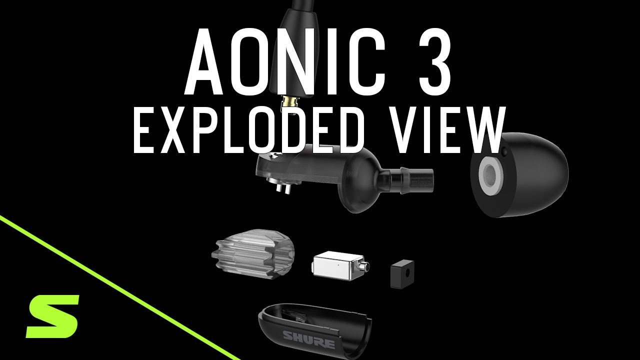 Shure AONIC 3 Sound Isolating Earphones - Exploded View Detail