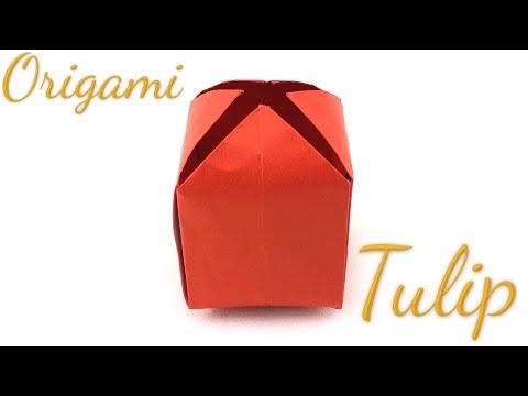 Origami Tulip Tutorial (Hyo Ahn)