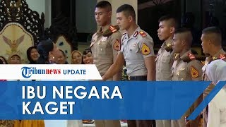 VIDEO Momen Iriana Jokowi Kalah Tinggi dengan Taruna, Terkaget-kaget sampai Bikin Hadirin Terbahak
