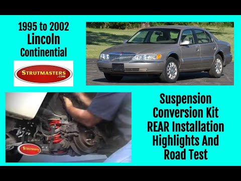 1997 Lincoln Continental Rear Air Conversion By Strutmasters