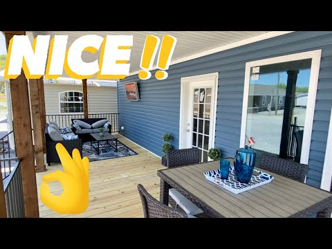 The PERFECT mobile home LAKE HOUSE! Double Wide even has QUARTZ countertops! Home Tour