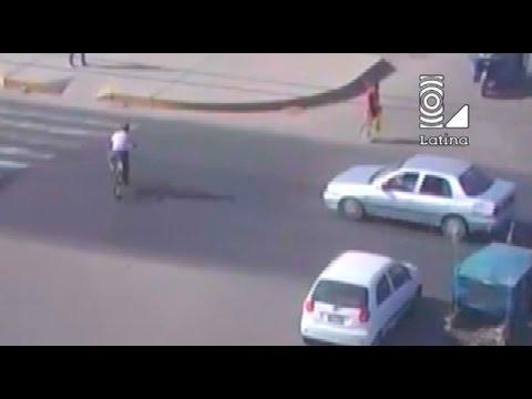 Chimbote: cámaras de seguridad captan terrible atropello a ciclista