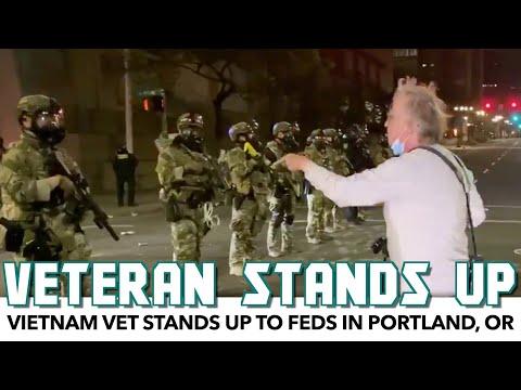 Vietnam Vet Stands Up To Feds In Portland
