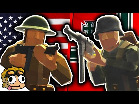 WORLD WAR 2 BATTLE w/ TEAM SPECIFIC LOADOUTS! | Ravenfield WW2 Mods