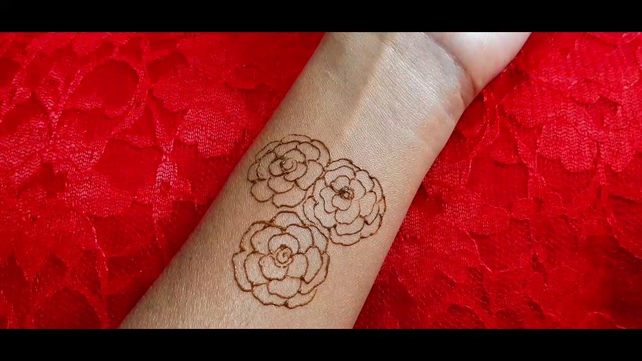 indian traitional mehndi design karva chauth woman flowers by jyoti