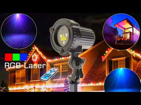 Садовый лазерный проектор Eshini / Garden Laser Projector Eshini