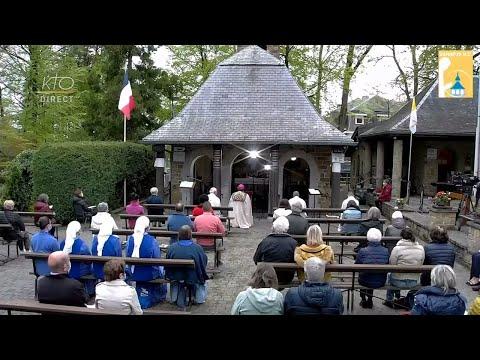 Chapelet du 11 mai 2021 à la Vierge des Pauvres (Banneux - Belgique)