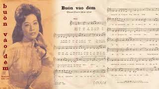 🎵 Buồn Vào Đêm (Hoài Linh, Thanh Sơn) Phương Dung Pre 1975 | Tờ Nhạc Xưa