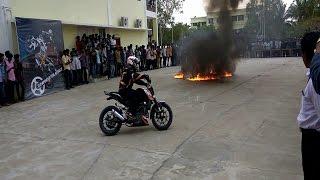 KTM Stunt Show - THROTTLERZ @ Ponjesly  College