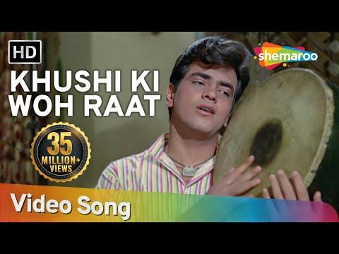 Khushi Ki Woh Raat Aa Gayee (HD)   Dharti Kahe Pukar ke Songs   Jeetendra   Nanda   Sanjeev Kumar