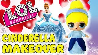 LOL Surprise Doll Play-Doh Makeover! Curious QT and Cinderella Dress Up for the Ball!