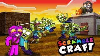 I Start a ZOMBIE APOCALYPSE in Minecraft! (Scramble Craft)