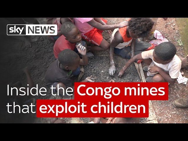 Inside the Congo mines that exploit children - Sky News