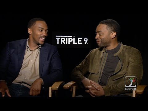 , title : 'Triple 9 Actors Chiwetel Ejiofor and Anthony Mackie talk British vs. American Actors'