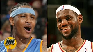 What if LeBron James and Carmelo Anthony had teamed up? | The Jump
