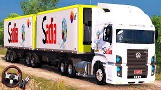 """TRABALHANDO para """"BRF""""! CARREGADO de CONGELADOS - VW Constellation 3.5 - Euro Truck Simulator 2"""