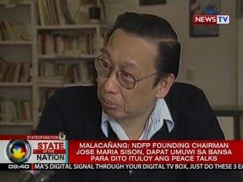 [GMA]  Malacañang: NDFP founding Chairman Sison, dapat umuwi sa bansa para dito ituloy ang peace talks