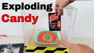 What Happens When You Put 10 Bags of Pop Rocks in a Vacuum Chamber? And Pop Rocks and Soda Challenge
