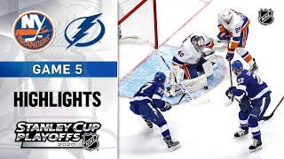 NHL Highlights | ECF, Gm5 Islanders @ Lightning - Sept. 15, 2020
