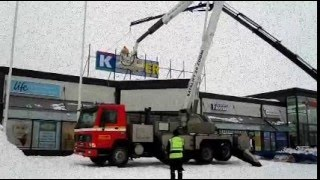preview picture of video 'Forssa Euromarket K-SUPERMAKET Kartanokeskus Changing the name of'