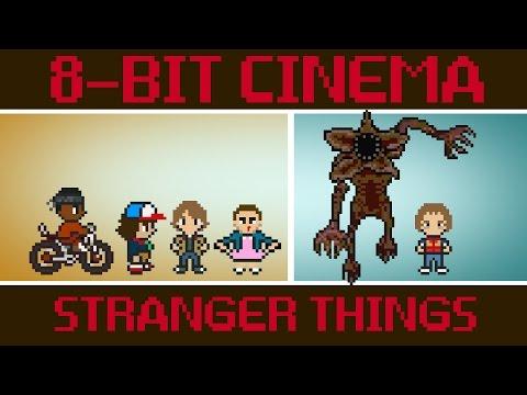 Stranger Things como si fuese un videojuego de 8 bits