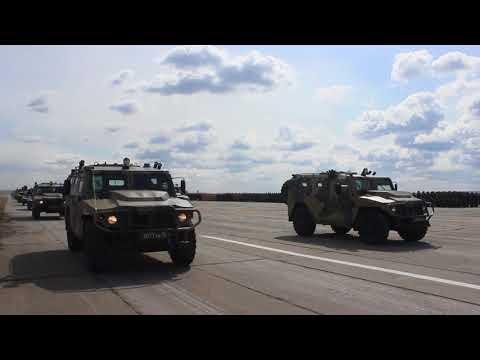 В Самаре состоялась первая репетиция Парада Победы с участием техники