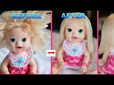 HOW TO FIX DOLL HAIR with NO FABRIC SOFTNER - Baby Alive