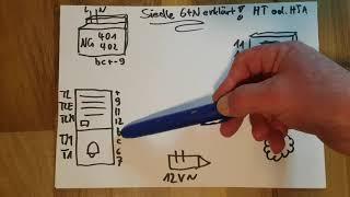 Siedle Sprechanlage erklären und verdrahten, einfacher Anschlussplan