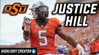 Fastest RB in the Draft 🔥 Justice Hill Oklahoma State Highlights ᴴᴰ