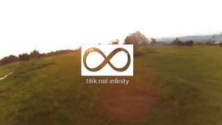 Perpect sunset and freestyle drone racing